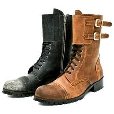Shoes :: Military Vintage Biker Boots - 20 - New and Stylish - Fast Mens Fashion - Mens Clothing - Product