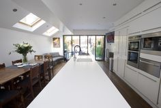 London Borough of Brent, Side Return Extension, Side Extension, Kitchen Extension, Victorian Terraced House, Bi-Fold Doors, Kitchen, Rear Extension, Roof-lights, Glass Roof, Kitchen, Pitched Roof, Side Return Ideas, Kitchen Extension Ideas