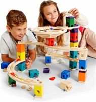 The Hape Quadrilla Whirlpool marble run takes twists and turns to new heights. Shop online now for the Quadrilla Whirlpool marble run by Hape Toys. Wooden Marble Run, Wooden Path, Marble Maze, Marble Runs, Hape Toys, Illustrations, Building Toys, Educational Toys, 6 Years