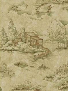 14562641 | Northwoods Lodge | TotalWallcovering.Com