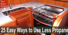 Use less cooking fuel (propane, alcohol or kerosene) and keep that heat out of the boat without sacrificing cooking or lifestyle. Twenty-five tips to help you conserve your cooking fuel.