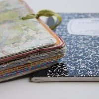 Tutorial on how to turn a lowly composition book into a thick and unique journal. - Polka Pics