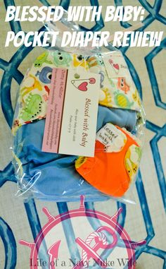 Blessed with Baby pocket diaper review! Monsters, and a keychain diaper! How cool is this!