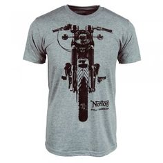 Mens Norton Motorcycle Commando T Shirt Grey