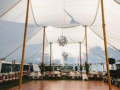 Modern Garden-Inspired Tented Wedding at The Gardens at Elm Bank - MODwedding Tent Wedding, Wedding Film, Mod Wedding, Wedding Day, Wedding Reception, Garden Wedding, Rustic Wedding, Grey Candles, Elegant Modern Wedding