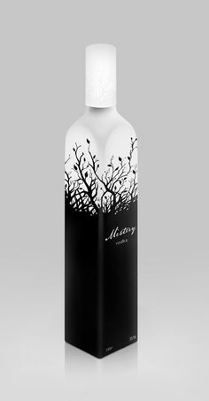 Design of bottle and label for MISTERY vodka