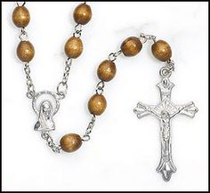 Amazon.com: Mens or Boys Brown Wood Rosary, Perfect for RCIA, Confirmation, First Communion or Fathers Day!: Everything Else