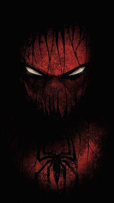 Red and black, spiderman, minimal, 720x1280 wallpaper
