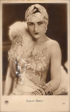 Evelyn Brent, Famous Hollywood Silent Film Actress Stunning Chic Luxury Flapper…