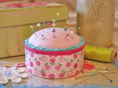 Tuna Can Pincushion diy... http://sewcraftlicious.blogspot.com/2011/07/tuna-can-pincushion.html