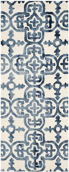 Castries Hand-Tufted Ivory/Navy Area Rug