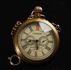 Vintage. bronze, 5 main mécanique montre de poche à la main du vent dans Montres à gousset de Montres sur Aliexpress.com