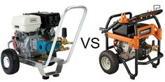 Nice comparison between two good gas pressure washers: Pressure Pro E4040HC and Generac 6565