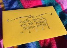 Addressing an envelope...pretty!