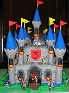 Awesome knights castle cake