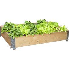 Kasvilaatikko 120 x 80 cm luonnollinen - Plantagen. Vegetable Garden, Organic Gardening, Planter Pots, Herbs, Vegetables, Green, Flowers, Zero Waste, Ideas