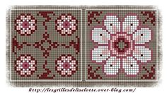 plastic canvas chart pattern for flowers - 2 Biscornu Cross Stitch, Cross Stitch Needles, Cross Stitch Charts, Cross Stitch Embroidery, Cross Stitch Patterns, Beading Patterns, Embroidery Patterns, Cross Stitch Flowers, Pin Cushions