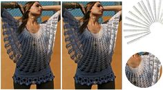 Blusa calada tejida a crochet - patron