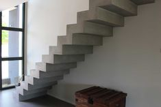 Nos réalisations Concrete Stairs, Staircase Design, House Design, Homes, Decorations, Home Decor, House Template, Ideas, Houses