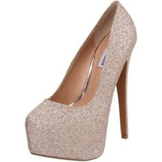 Steve Madden glitter pumps I really love these but I can't walk in them  , new I just walked around my house in them Steve Madden Shoes Platforms