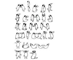Risque Rabbit Alphabet - 'Alphabunnies' letter-forming poses are both provocative and imaginative. They are part of a series of 26 (obviously) from a typeface a...