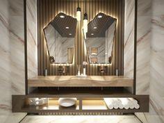 Wooden wash basin for unique bathrooms.