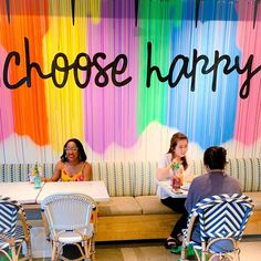 Choose happy, even when it's difficult. . . . #EatFlowerChild #DontWorryBeHappy #WallWednesday #LifeInColor #LivingColorfully #Colorful…