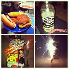 "@hail_jayy's photo: ""How I'm spending my fourth of July #BBQ #food #corn #beans #alcohol #mikeshardlemonade #fireworks"""