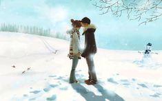 Anime Love Couple Kiss