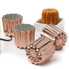 Copper cannelés molds