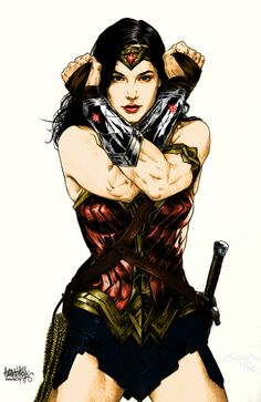 Gal Gadot as Wonder Woman Not sure about how she will be in the movie. I would've chosen Jessica Biel.