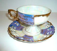 Vintage Teacup Saucer  Lustreware by VintageReinvented