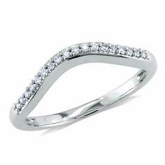 Shop for Miadora White Gold TDW Diamond Curved Anniversary-style Stackable Wedding Band Ring. Get free delivery On EVERYTHING* Overstock - Your Online Jewelry Shop! Stacked Wedding Bands, Stackable Wedding Bands, Curved Wedding Band, Wedding Ring Bands, Diamond Anniversary, Anniversary Bands, Ring Stores, Womens Wedding Bands, Jewelry Watches