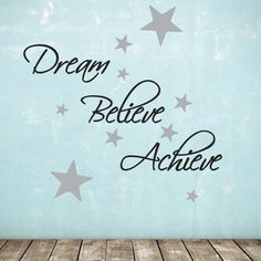 dream, believe, achieve wall sticker pack