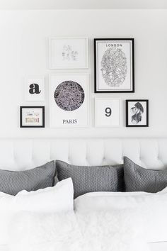 Bedroom Gallery Wall | Hello Fashion | Bloglovin'  Framed ticket stubs and maps of favorite places