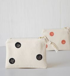 Polka dot coin purse. Small makeup zipper pouch. Cosmetic bag. Handmade Etsy. Women fashion accessories. Daily trends. Bold outfit. Gift idea. Wallet