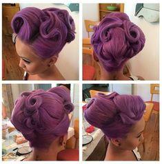 chignon violet