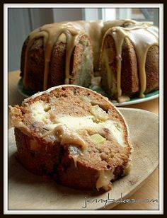 Apple-Cream Cheese Bundt Cake | by watchjennybake