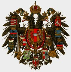 Coat of arms of the Austrian Empire, 1894-1896, Brockhaus Konversationslexikon.