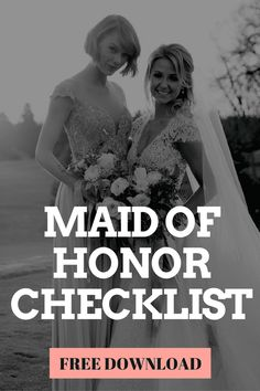 maid of honor checklist