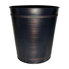 Beaded Steel Oil Rubbed Bronze Wastebasket Generic