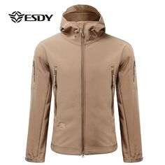 Sale 27% (45.23$) - ESDY Men\'s Tactical Military Outdoor Jacket Waterproof Coat Softshell Outerwear