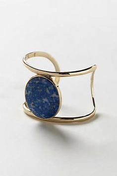 isharya blue lapis lazuli wire cuff  Anthropologie Catalog: March 2014 Lookbook