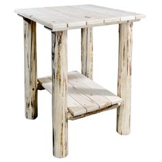Need a Rustic End Table? We offer a wide variety of unique rustic end tables at a fair price. Shop Our Collection Today. End Tables For Sale, Cool Tables, Deck Chairs, Deck Benches, Rustic End Tables, Stool, It Is Finished, Woodworking, Exterior