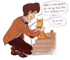 The Doctor and cats