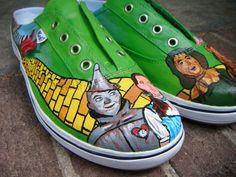 Wizard Of Oz Shoes. $55.00, via Etsy.