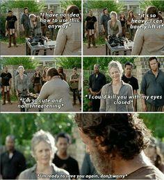 Carol salvando a todo el mundo