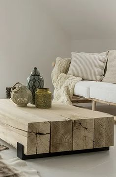 Design Palette, Decorating Coffee Tables, Simple Colors, Living Room Inspiration, My Living Room, Wood Blocks, Furniture Design, Table Decorations, House Styles