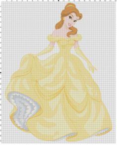Belle plain dress cross stitch pattern PDF by Bluegiantstitch, £2.30