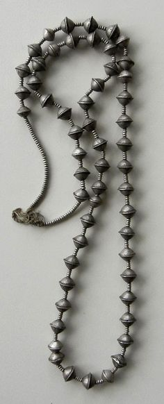 Africa | Necklace strand made up of silver beads from Ethiopia